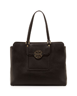 Tory Burch Amanda Triple-Compartment Tote Bag, Black