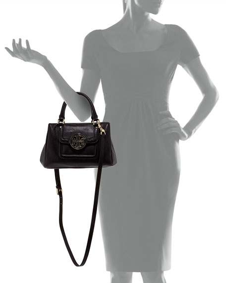 Amanda Slouchy Mini Satchel Bag, Black