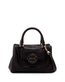 Tory Burch Amanda Slouchy Mini Satchel Bag, Black