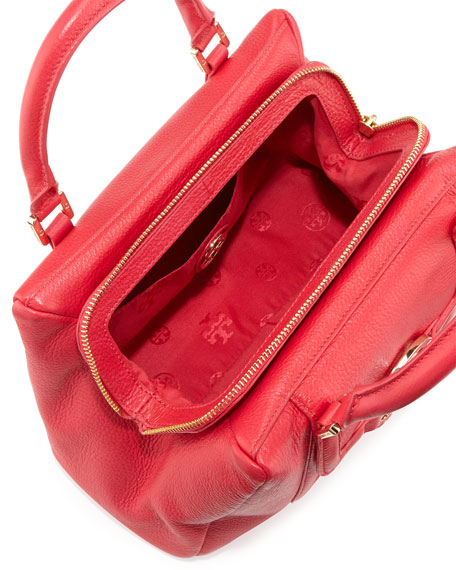 Amanda Slouchy Mini Satchel Bag, Hot Pink