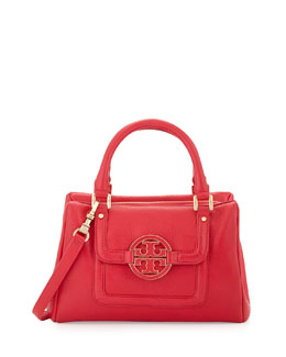 Tory Burch Amanda Slouchy Mini Satchel Bag, Hot Pink