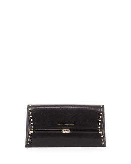 Diane von Furstenberg 440 Studded Envelope Clutch Bag, Black