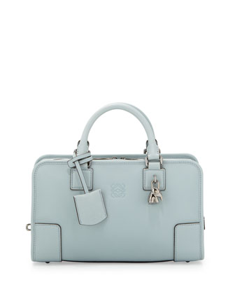 Amazona 28 Elephant-Padlock Satchel Bag, Light Blue