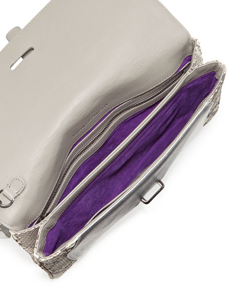 Maxim Python Envelope Clutch Bag, Gray