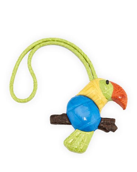 Crocodile Toucan Charm for Handbag