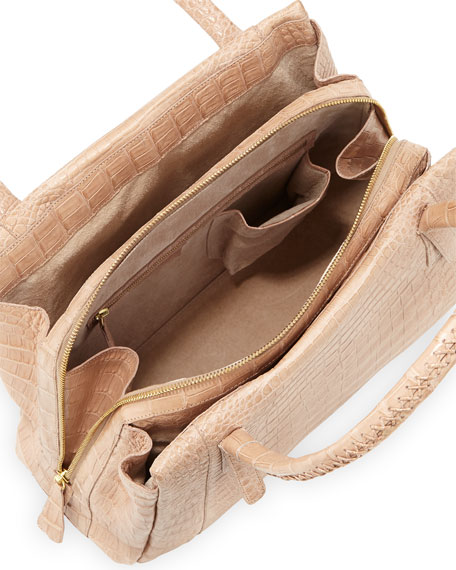 Crocodile Tote Bag, Neutral