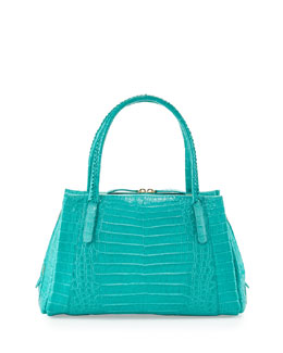 Nancy Gonzalez Crocodile Small Tote Bag, Turquoise
