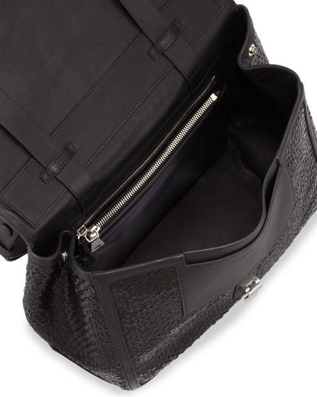 PS Courier Woven Shoulder Bag, Black