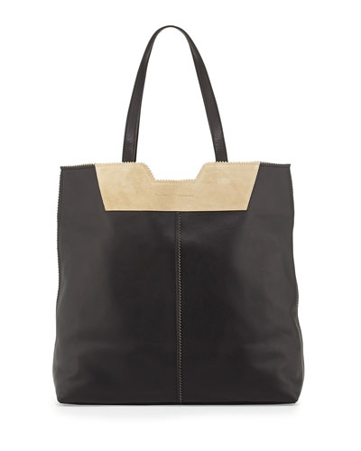 Proenza Schouler Paper Bag Leather Tote, Black/Brown