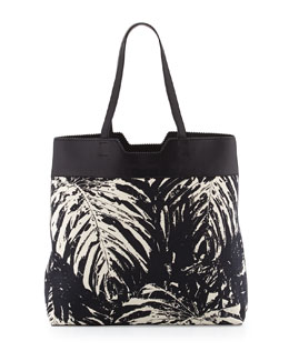 Proenza Schouler Paper Bag Printed Canvas Tote, Black