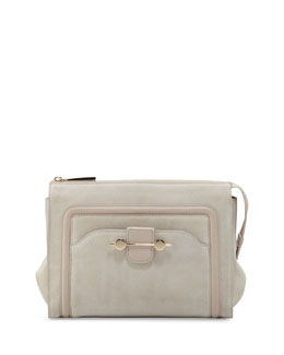 Jason Wu Daphne Suede Clutch Bag, Beige