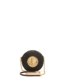 Dolce & Gabbana Glam Round Coin Crossbody Bag, Black