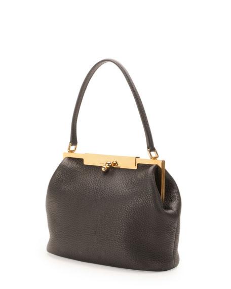 Sara Pebbled Frame Shoulder Bag