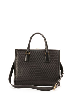 Dolce & Gabbana Sofia Framed Lattice Satchel Bag, Black