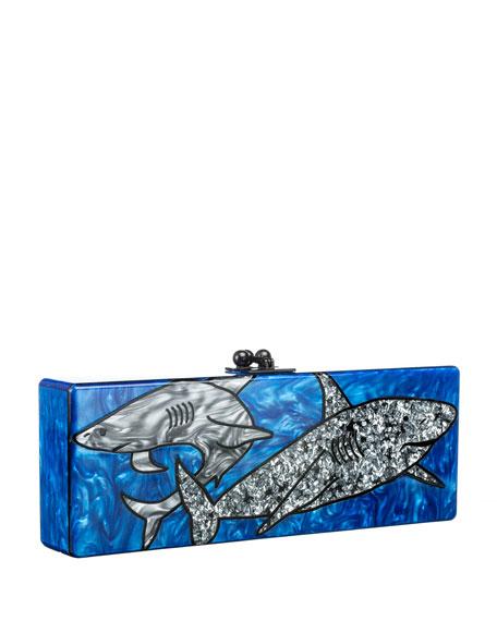 Sharks Acrylic Clutch Bag, Ocean Multi