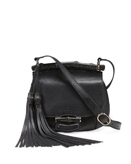 Gucci Nouveau Leather Shoulder Bag, Black