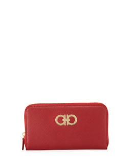 Salvatore Ferragamo Icona Gancini Wallet, Red