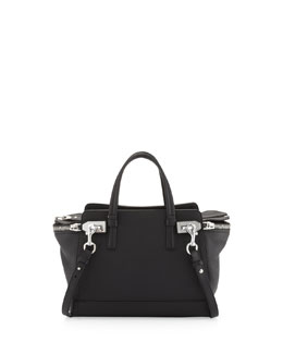 Salvatore Ferragamo Small Verve Zip-Top Tote Bag, Black