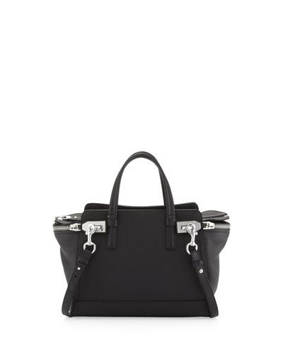 Salvatore Ferragamo Verve Zip-Top Tote Bag, Black