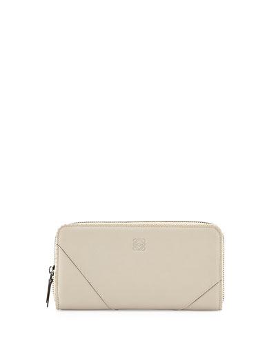 Loewe Origami Zip-Around Wallet, Light Sand