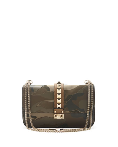 Camo Glam Lock Rockstud Flap Bag