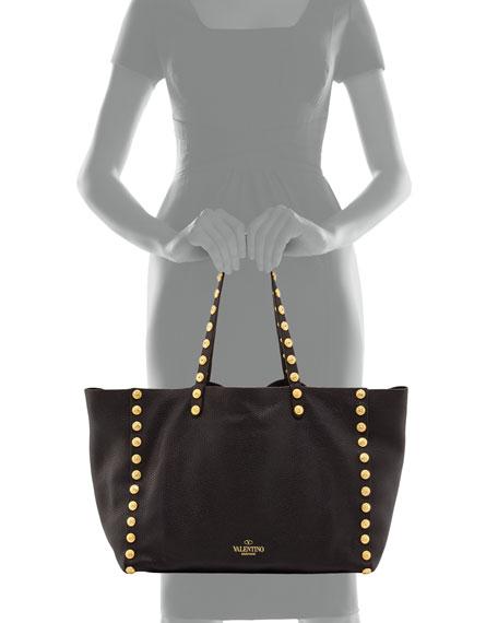 Gryphon-Stud Tote Bag, Black