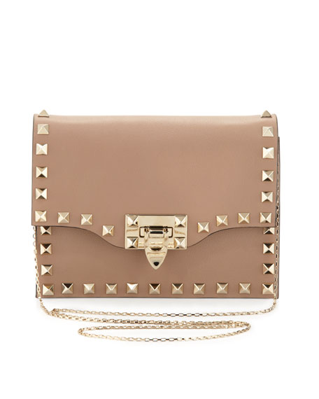 Rockstud Pouch Crossbody Bag, Taupe