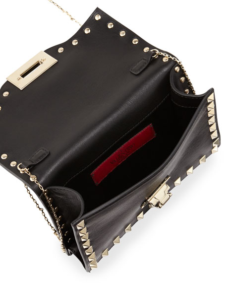 Rockstud Pouch Crossbody Bag, Black