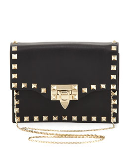 Valentino Rockstud Pouch Crossbody Bag, Black