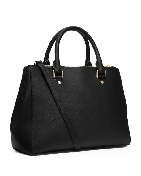 Sutton Medium Satchel Bag, Black