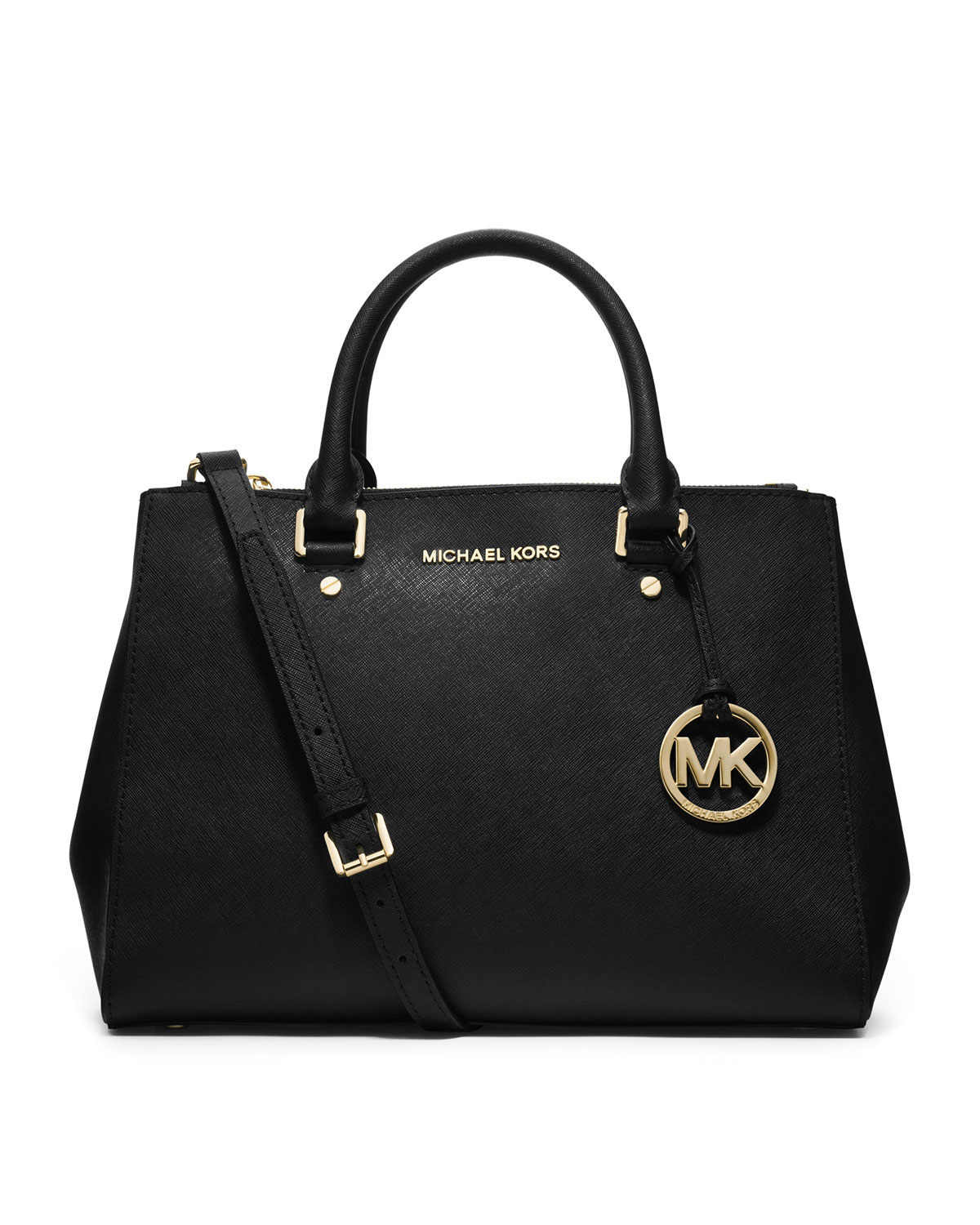a06b5e28e825 MICHAEL Michael Kors Sutton Medium Satchel Bag, Black | Neiman Marcus