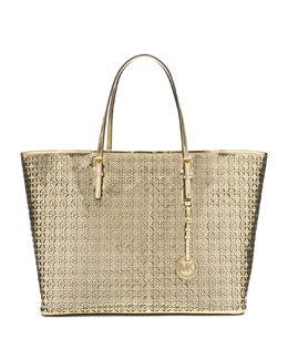 MICHAEL Michael Kors  Medium Perforated Flower Travel Tote