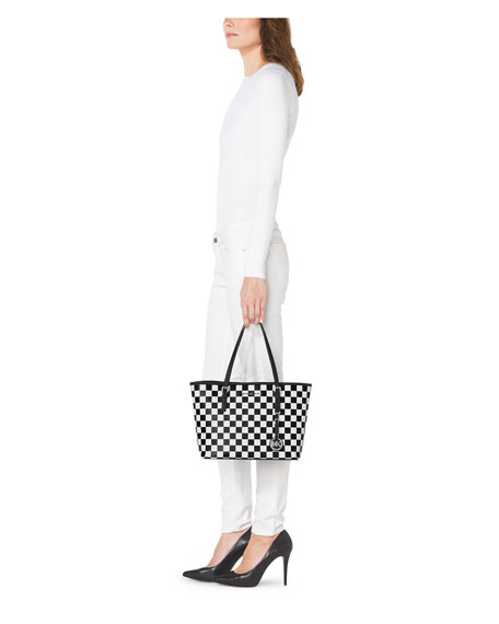 Jet Set Travel Checkerboard Tote