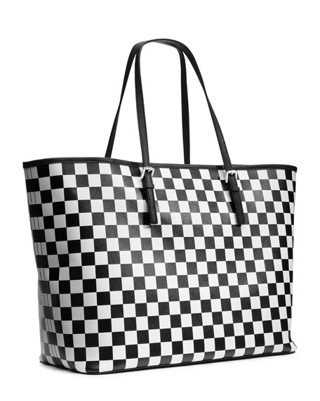 Jet Set Travel Medium Checkerboard Tote