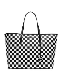 MICHAEL Michael Kors  Jet Set Travel Medium Checkerboard Tote