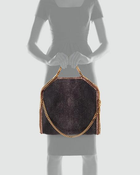 Falabella Shaggy Deer Fold-Over Tote Bag, Salmone