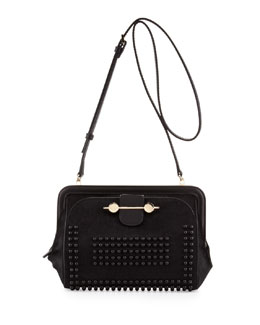 Jason Wu Studded Calf Hair Crossbody Bag, Black