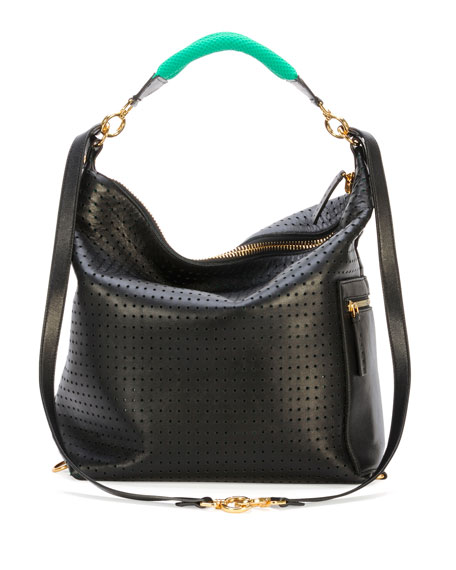 Perforated Convertible Backpack, Black