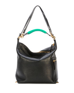 Marni Perforated Convertible Backpack, Black