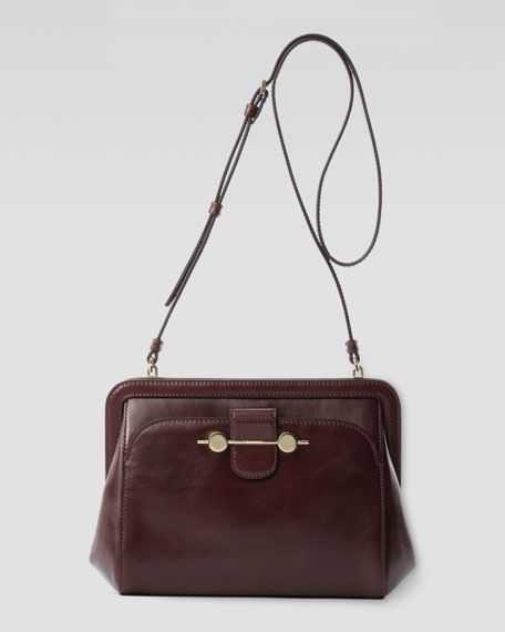Daphne Leather Crossbody Bag, Bordeaux/Burgundy
