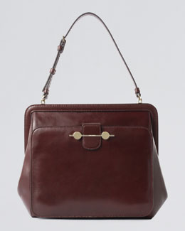 Jason Wu Daphne Leather Shoulder Bag, Bordeaux/Burgundy