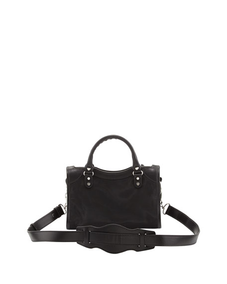 Classic Mini City AJ Satchel, Black