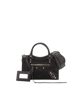 Balenciaga Classic City Mini AJ Satchel, Black