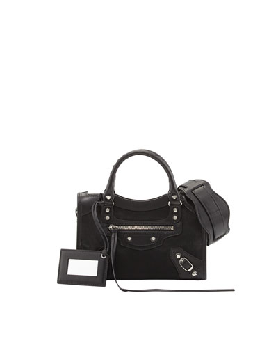 Balenciaga Classic Mini City AJ Satchel, Black