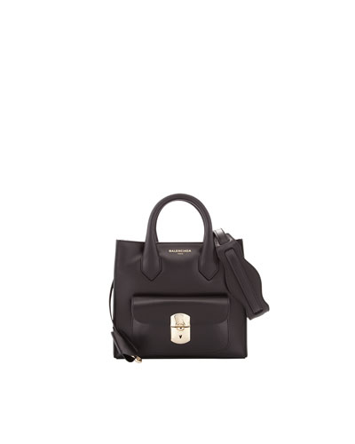 Balenciaga Padlock Mini All Crossbody Bag, Black