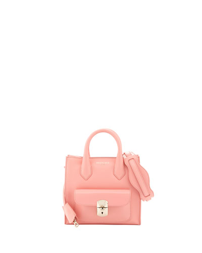 Balenciaga Padlock Mini All Crossbody Bag, Coral