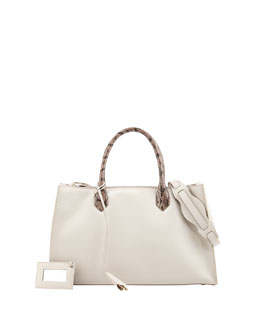 Balenciaga Padlock Nude Works Small Tote Bag, Gray