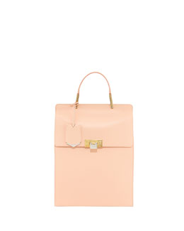 Balenciaga Le Dix Leather Backpack, Pink