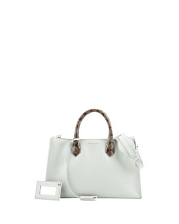 Balenciaga Padlock Nude Works Extra-Small Tote Bag, Green