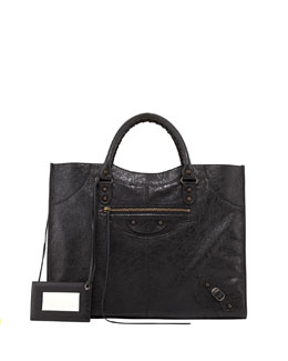 Balenciaga Classic Monday Satchel Bag, Black
